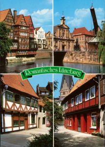 Ansichtskarte Lüneburg Romatisches Lüneburg, Gassen, Wasser 1991