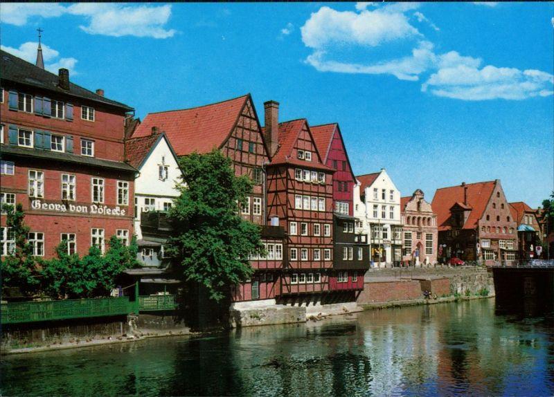 Ansichtskarte Lüneburg Partie an der Ilmenau 1995