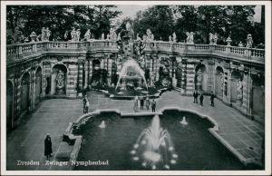Ansichtskarte Innere Altstadt-Dresden Zwinger - Nymphenbad 1939