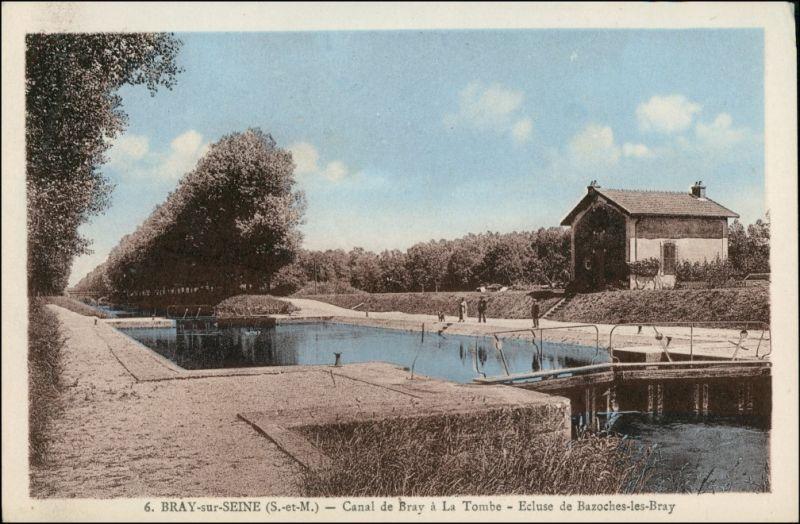CPA Bray-sur-Seine Canal de Bray 1924