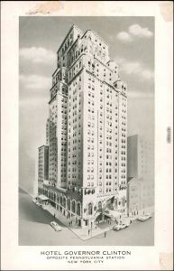 New York City Hotel Governor Clinton opposite Pennsylvania Station+ 1940