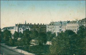 Ansichtskarte Zwickau Partie am Römerplatz 1917