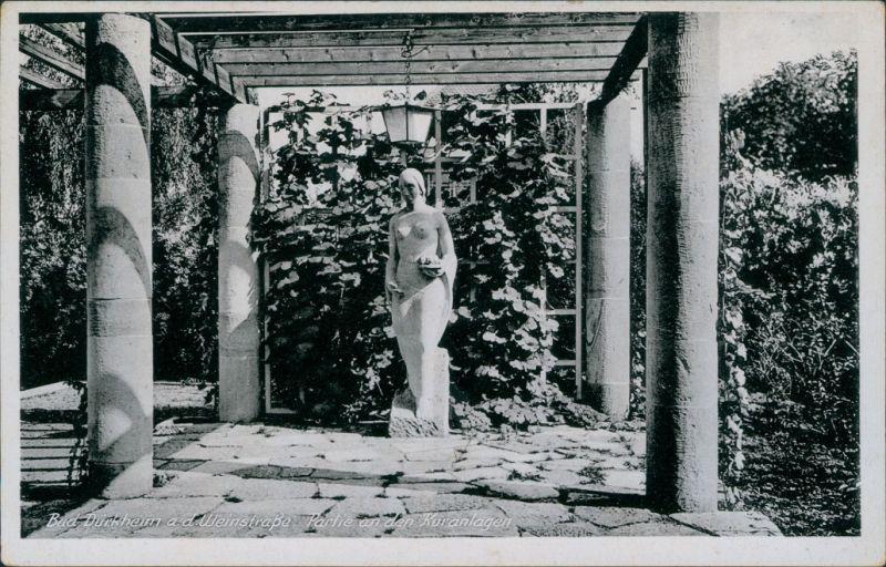 Ansichtskarte Bad Dürkheim Partie an den Kuranlagen 1932