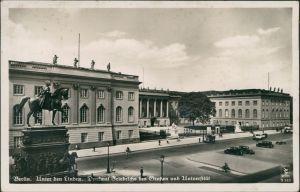 Berlin Denkmal Friedrich des Großen und Universität unter den Linden 1934
