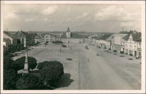 Postcard Holitz in Böhmen Holice v Čechách Marktplatz 1938