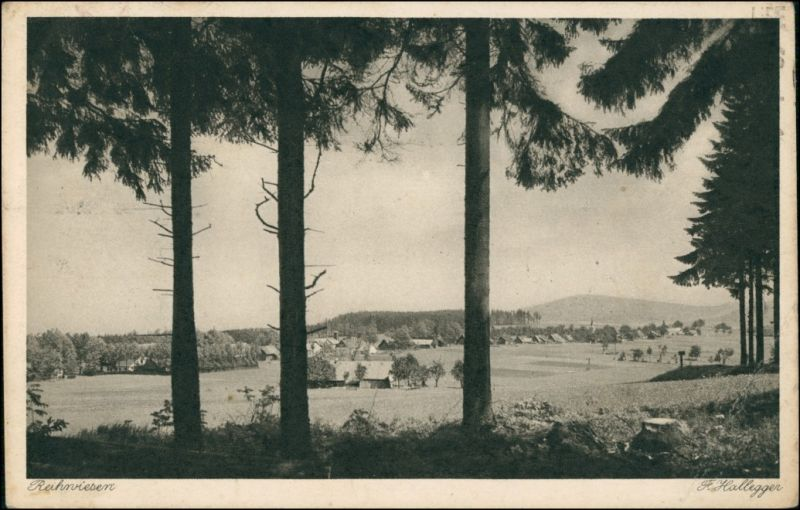 Postcard Reihwiesen-Zuckmantel Zlaté Hory Blick auf die Stadt 1926