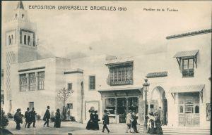 Postkaart Brüssel Bruxelles Pavillon de la Tunisse - Exposition 1910