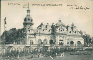 Postkaart Brüssel Bruxelles Le Chien Vert - Expo 1910