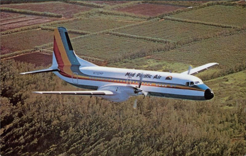 Ansichtskarte  Mid Pacific Airlines YS-11 1990