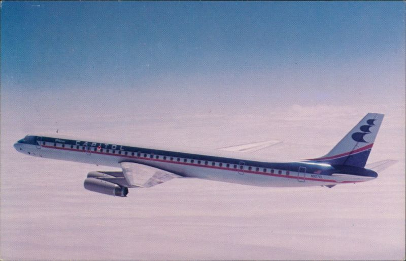 Ansichtskarte  Douglas Super DC-8 Capitol International Airways 1990