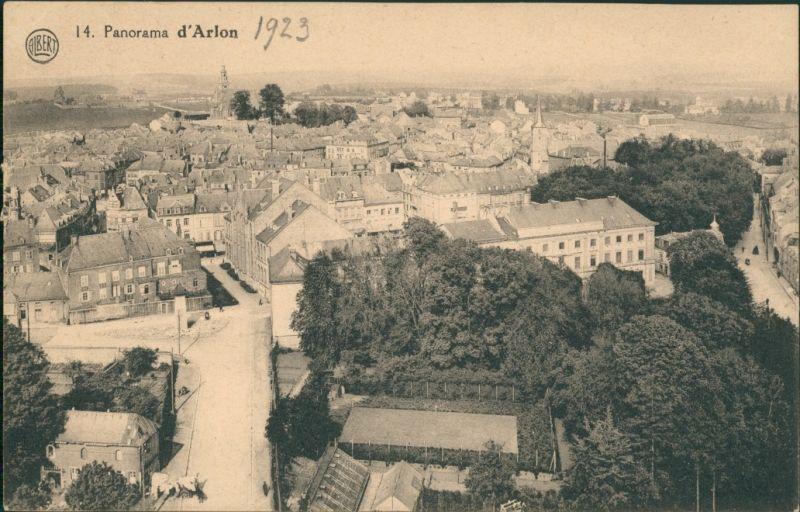 Postkaart Arlon Arlen Straßenpartie 1923