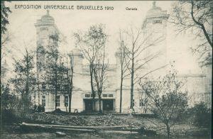 Postkaart Brüssel Bruxelles Canada - Exposition 1910