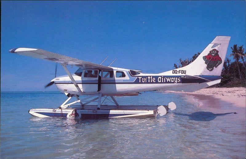 Postcard Lautoka Cessna U206G Stationair 6 1990