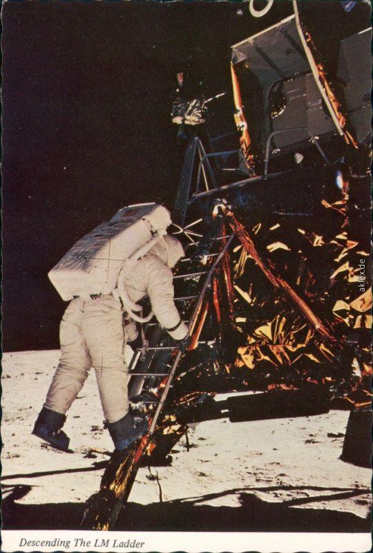 Ansichtskarte  Apollo 11 Mondlandung Astronaut Neil Armstrong 1975
