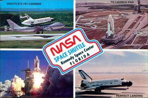 Postcard Orsino Space Shuttle, Kennedy Space Center 1990