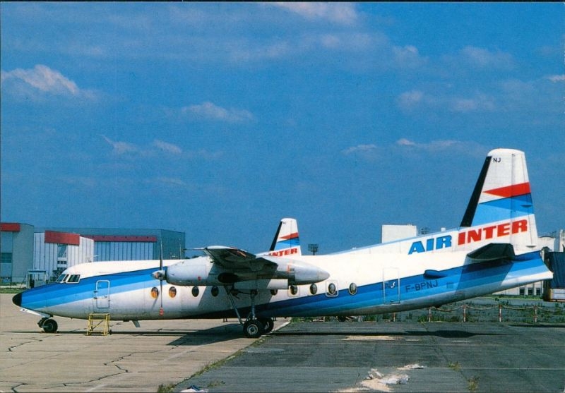 Orly AIR INTER Fokker 27 (F-BPNJ) AIR INTER Fokker 27 (F-BPNJ) Paris Orly 1990
