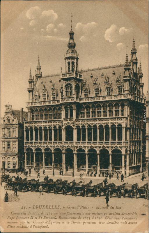 Postkaart Brüssel Bruxelles Kutschen - Grand Place 1912
