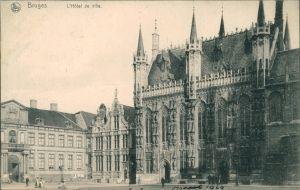 Postkaart Brügge Brugge | Bruges Hotel de Ville/Rathaus 1911