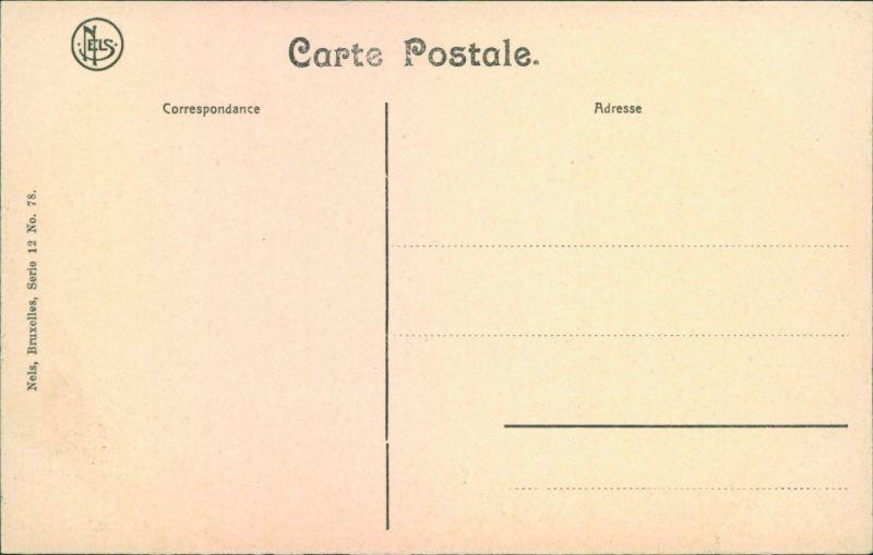 Postkaart Brügge Brugge | Bruges Hotel de Ville/Rathaus 1911  1