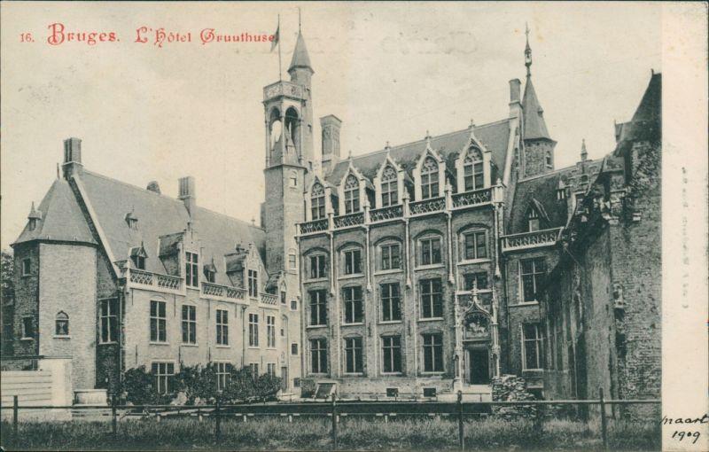 Postkaart Brügge Brugge | Bruges Hotel Gruuthuse 1909