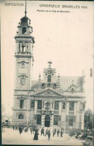 Postkaart Brüssel Bruxelles Pavillon de la Ville de Bruxelles 1910