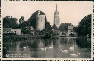 Postkaart Brügge Brugge | Bruges Het Minnewater/Le Lac Amour 1931