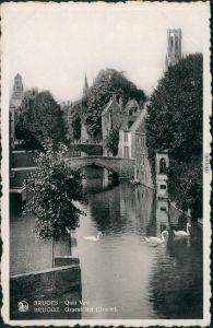Postkaart Brügge Brugge | Bruges Quai Vert - Gracht 1931