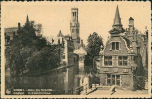 Postkaart Brügge Brugge | Bruges Quai de Rosaire 1931
