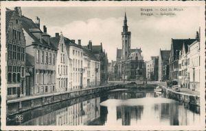Postkaart Brügge Brugge | Bruges Spiegelrei/Quai du Miroit 1931