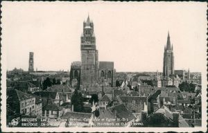 Postkaart Brügge Brugge | Bruges Blick über die Stadt 1931
