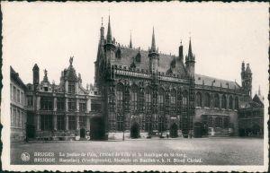 Postkaart Brügge Brugge | Bruges Platz - Justizpalast 1931