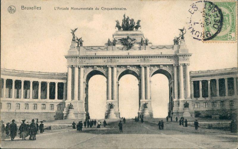 Postkaart Brüssel Bruxelles L'Arcade Monumentale du Cinquantenaire 1914