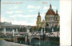 Mitte-Berlin Schlossbrücke (Marx-Engels-Brücke ) und Neuer Dom 1909