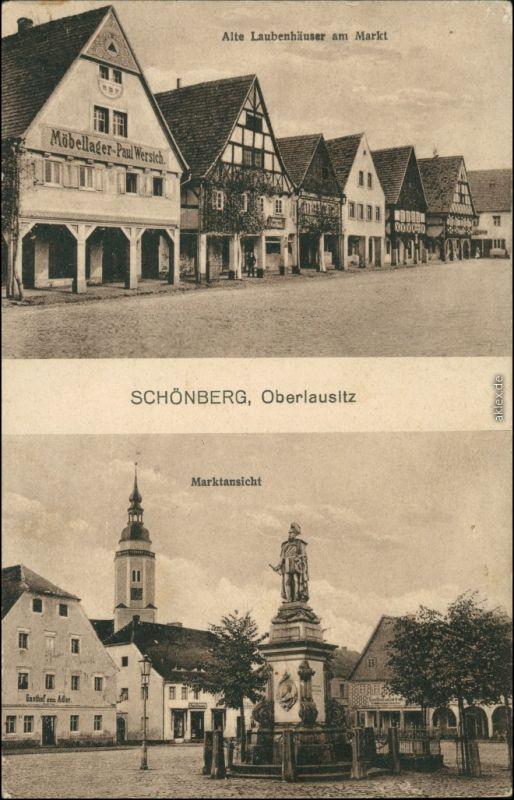 Schönberg (Oberlausitz) Sulików 2 Bild: Marktplatz b Görlitz 1913
