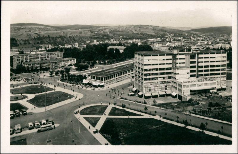 Postcard Zlin (Gottwaldov) Zlín Blick auf den Platz 1936
