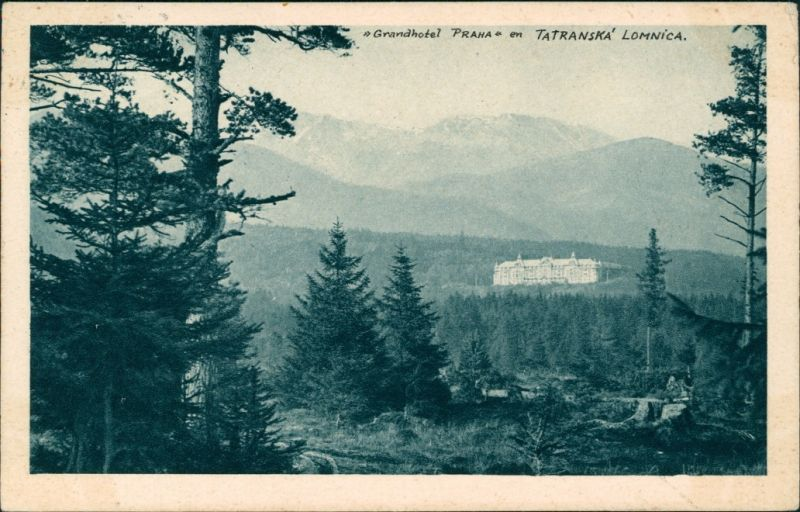 Tatralomnitz-Vysoké Tatry Tatranská Lomnica Grand Hotel Praha, Vysoké Tatry 1933