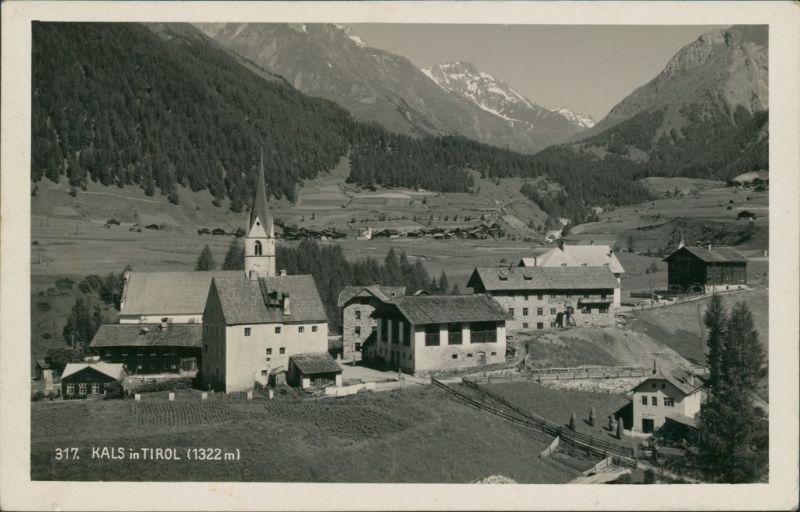 Kals am Großglockner Ortsansicht aufgenommen mit Zeiss-Objektiv 1938