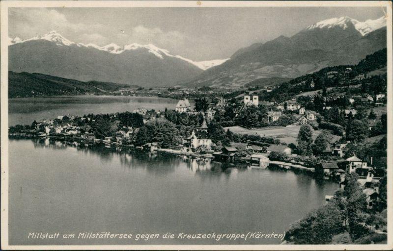 Ansichtskarte Millstatt Panorama gegen die Kreuzeckgruppe 1932
