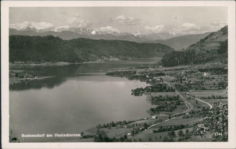 Ansichtskarte Bodensdorf-Steindorf Ort und Osslachersee 1940