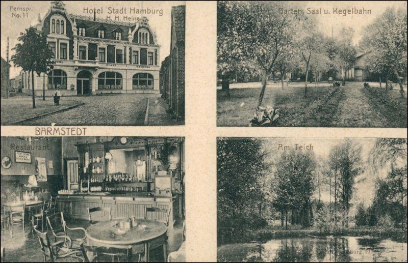 Ansichtskarte Bad Bramstedt 4 Bild: Hotel Stadt Hamburg 1909