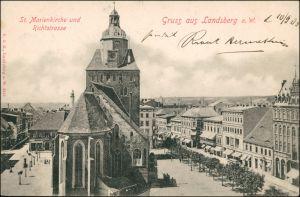 Landsberg (Warthe) Gorzów Wielkopolski St. Marienkirche, Richtstraße 1900