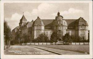 Ansichtskarte Südvorstadt-Dresden Pädagogisches Institut TU - Strehlen 1935