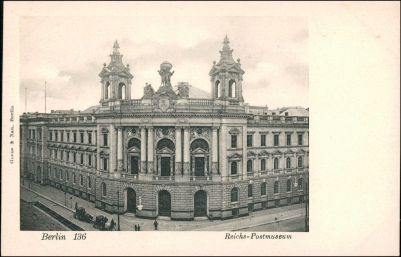 Ansichtskarte Mitte-Berlin Straßenpartie - Reichspostmuseum 1909