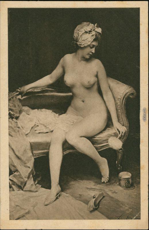Ansichtskarte  Erotika - nackte Frau - Akt Madrazo Nude 1916