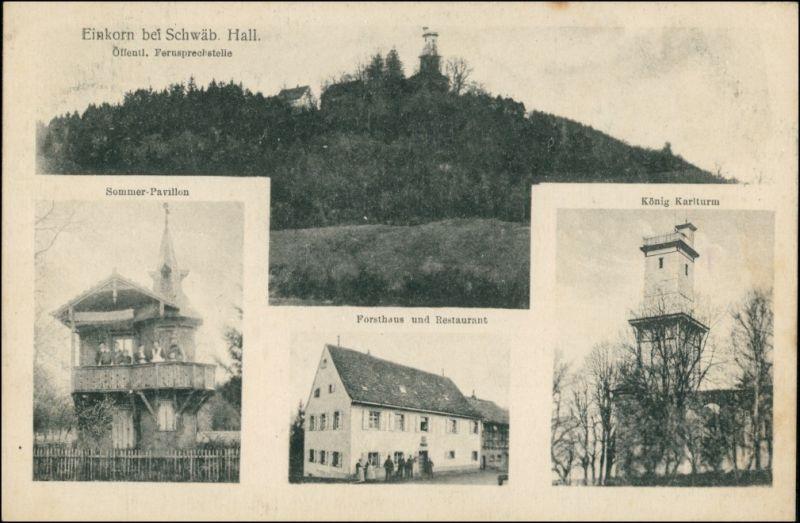 Einkorn Michelbach  4 Bild: Fernsprechstelle Gasthaus b Schwäbisch Hall 1915