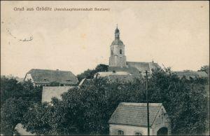 Ansichtskarte Gröditz Kirche - Blick auf die Stadt 1917
