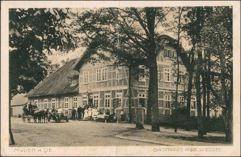 Ansichtskarte Müden (Örtze)-Faßberg Gasthaus Aug. Wessel 1911
