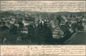 Ansichtskarte Ebersbach/Sa.-Ebersbach-Neugersdorf Blick auf den Ort 1904