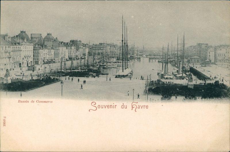 CPA Le Havre Hafen - Bassin de Commerce 1905