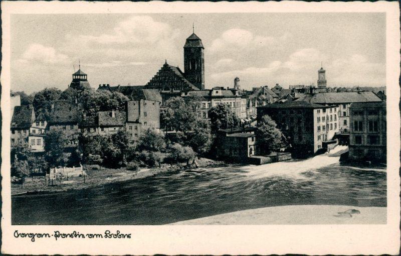 Postcard Sagan Żagań Blick auf die Stadt 1942